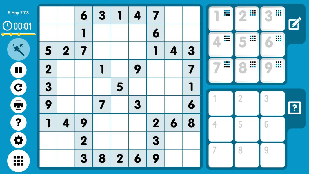 Level 2018-05-05. Online Sudoku