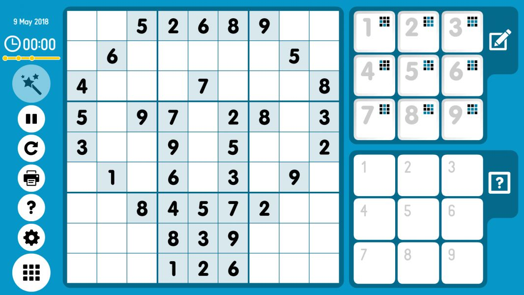 Level 2018-05-09. Online Sudoku