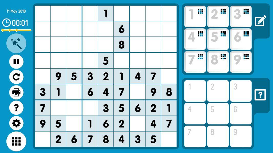 Level 2018-05-11. Online Sudoku