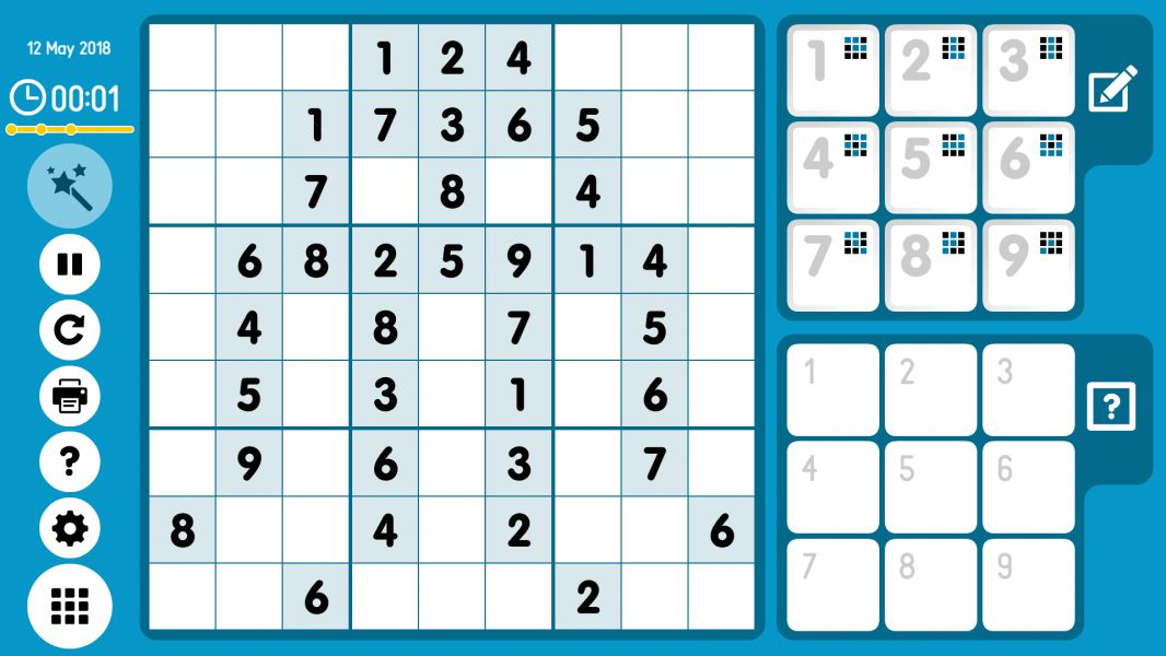 Level 2018-05-12. Online Sudoku