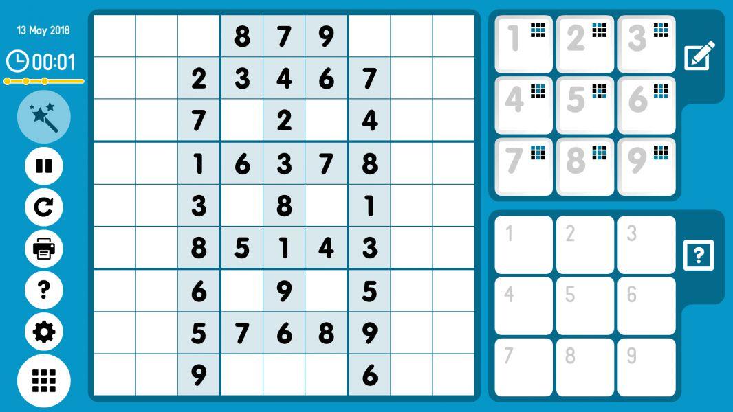 Level 2018-05-13. Online Sudoku