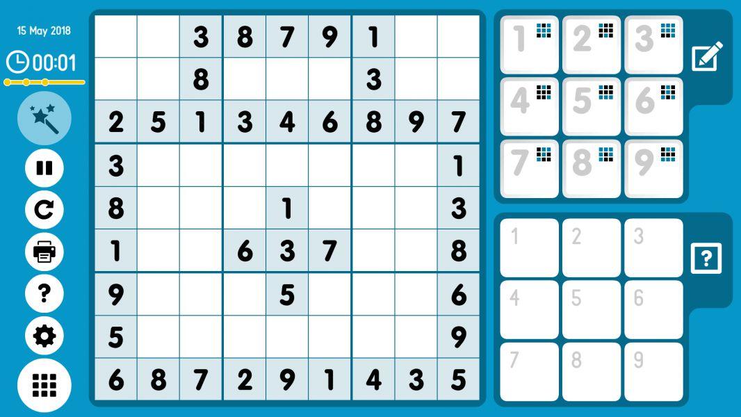 Level 2018-05-15. Online Sudoku