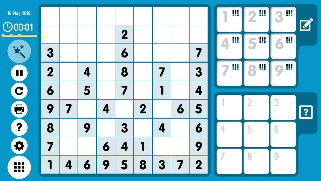 Level 2018-05-16. Online Sudoku