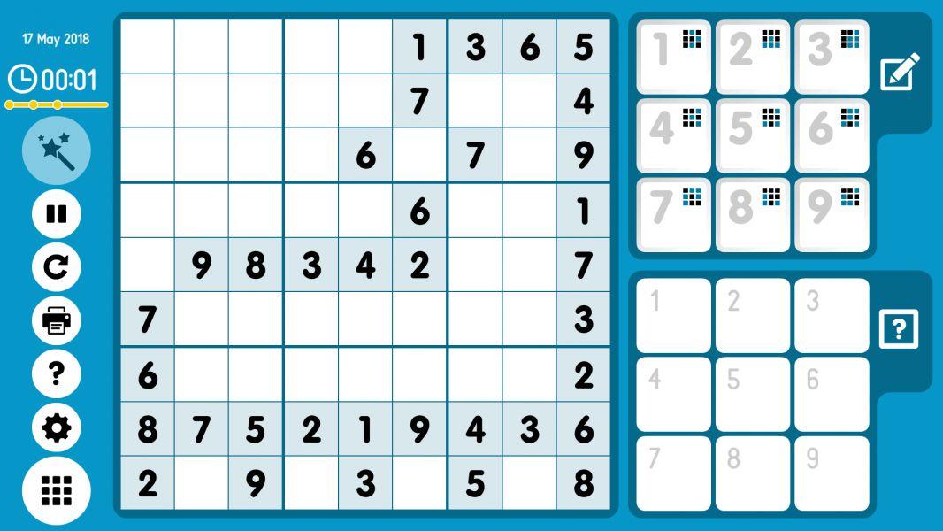 Level 2018-05-17. Online Sudoku