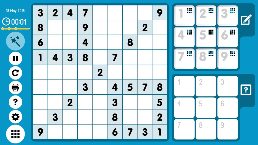 Level 2018-05-18. Online Sudoku