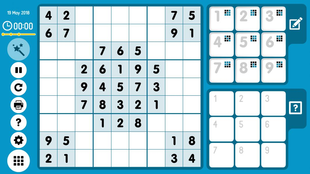 Level 2018-05-19. Online Sudoku