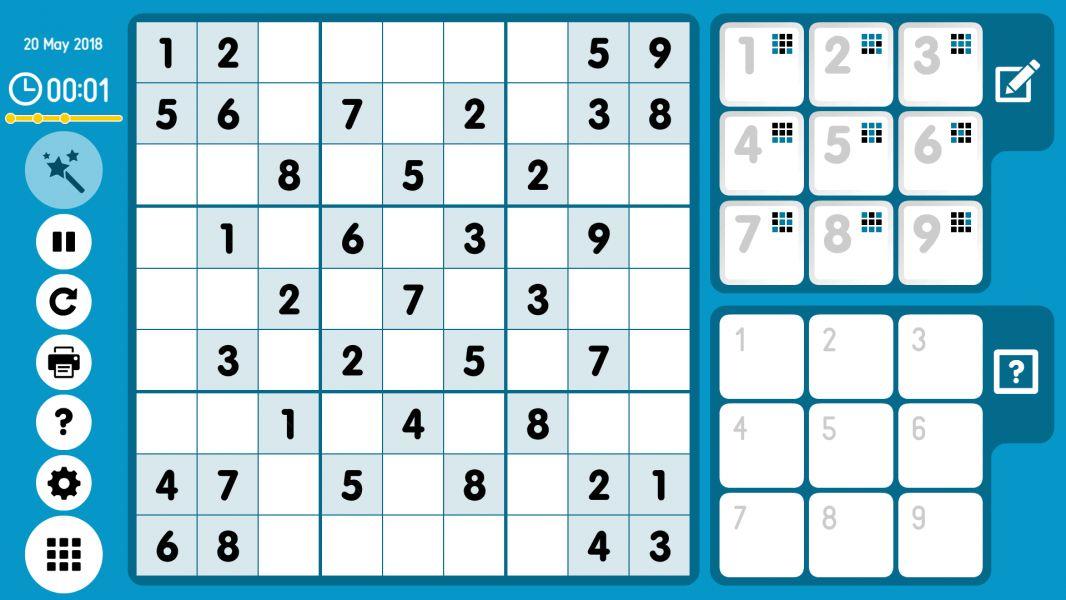 Level 2018-05-20. Online Sudoku