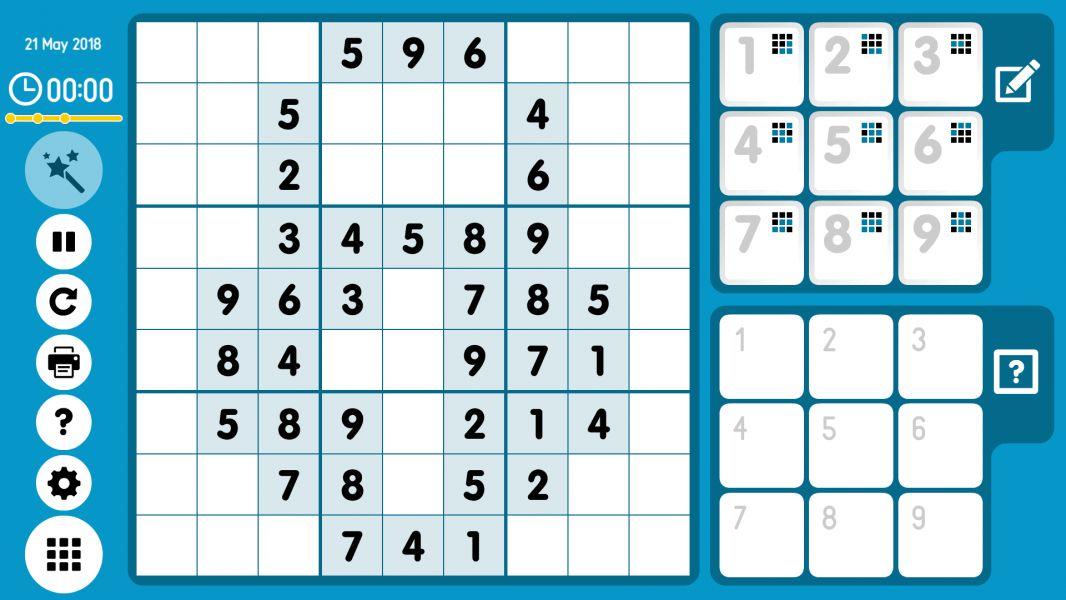 Level 2018-05-21. Online Sudoku