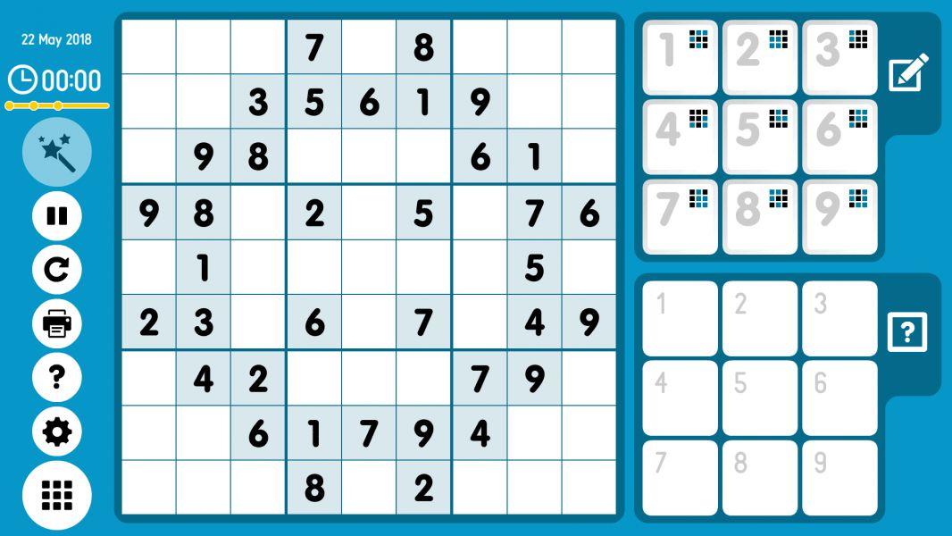 Level 2018-05-22. Online Sudoku