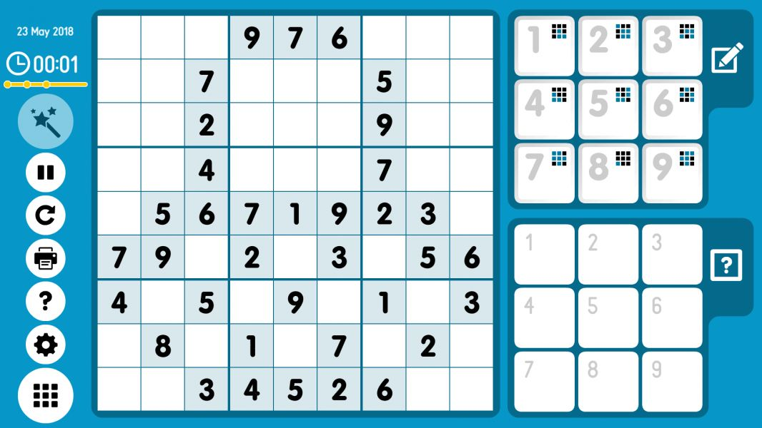 Level 2018-05-23. Online Sudoku