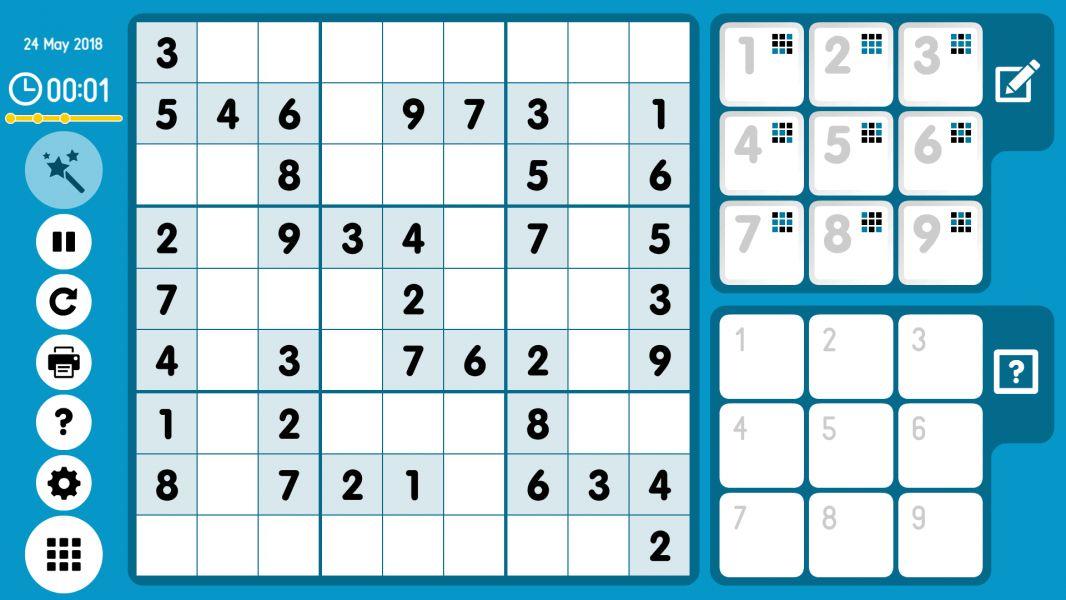 Level 2018-05-24. Online Sudoku