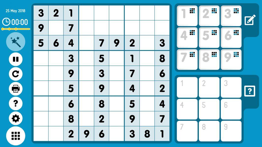 Level 2018-05-25. Online Sudoku