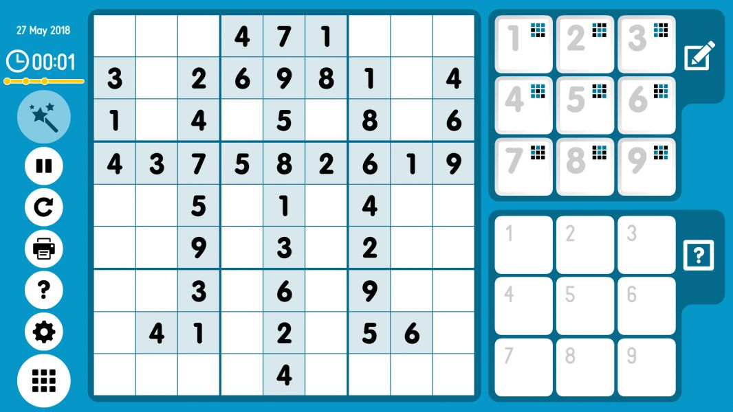 Level 2018-05-27. Online Sudoku