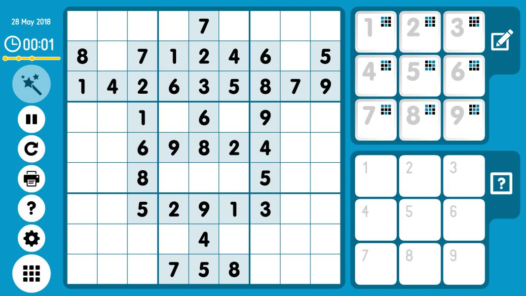 Level 2018-05-28. Online Sudoku