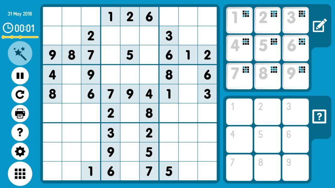 Level 2018-05-31. Online Sudoku