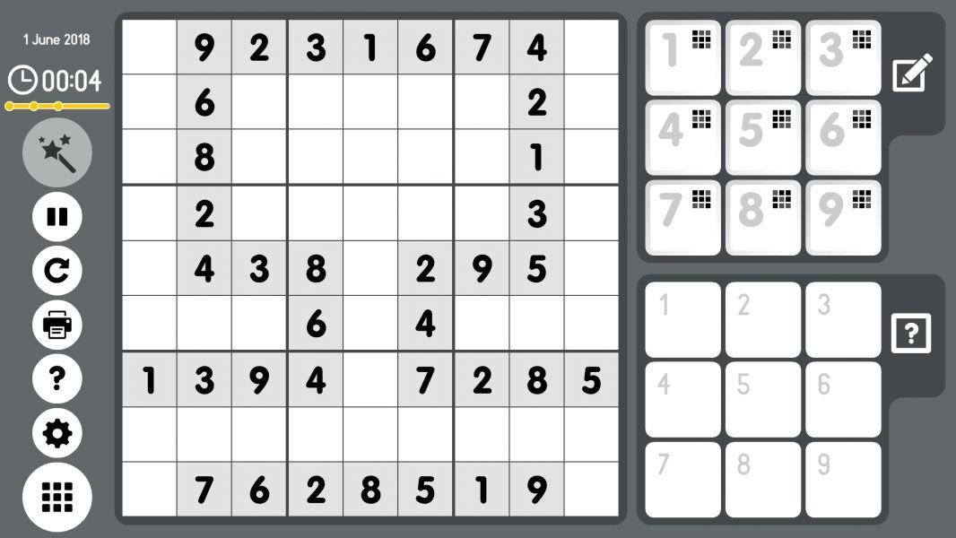 Level 2018-06-01. Online Sudoku