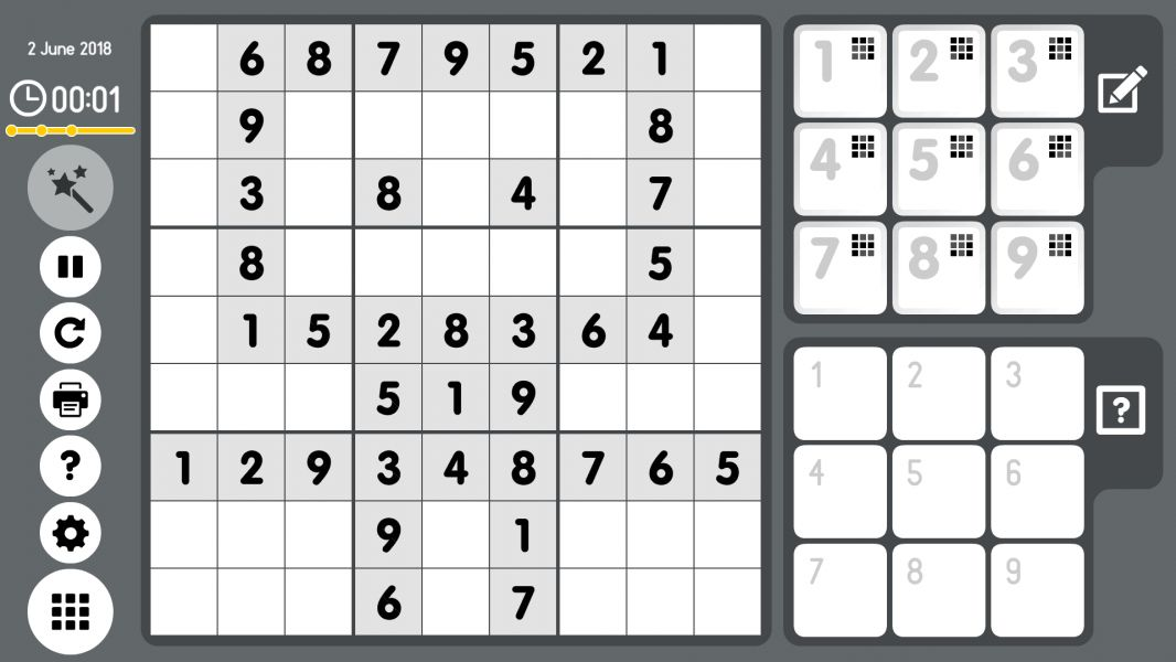 Level 2018-06-02. Online Sudoku
