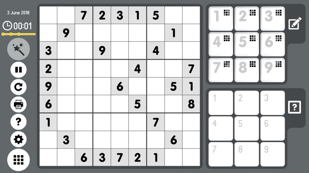 Level 2018-06-03. Online Sudoku