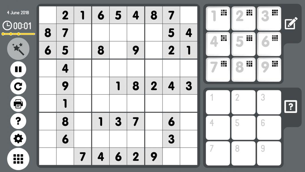 Level 2018-06-04. Online Sudoku