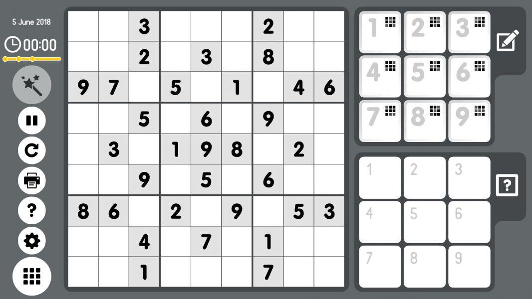 Level 2018-06-05. Online Sudoku
