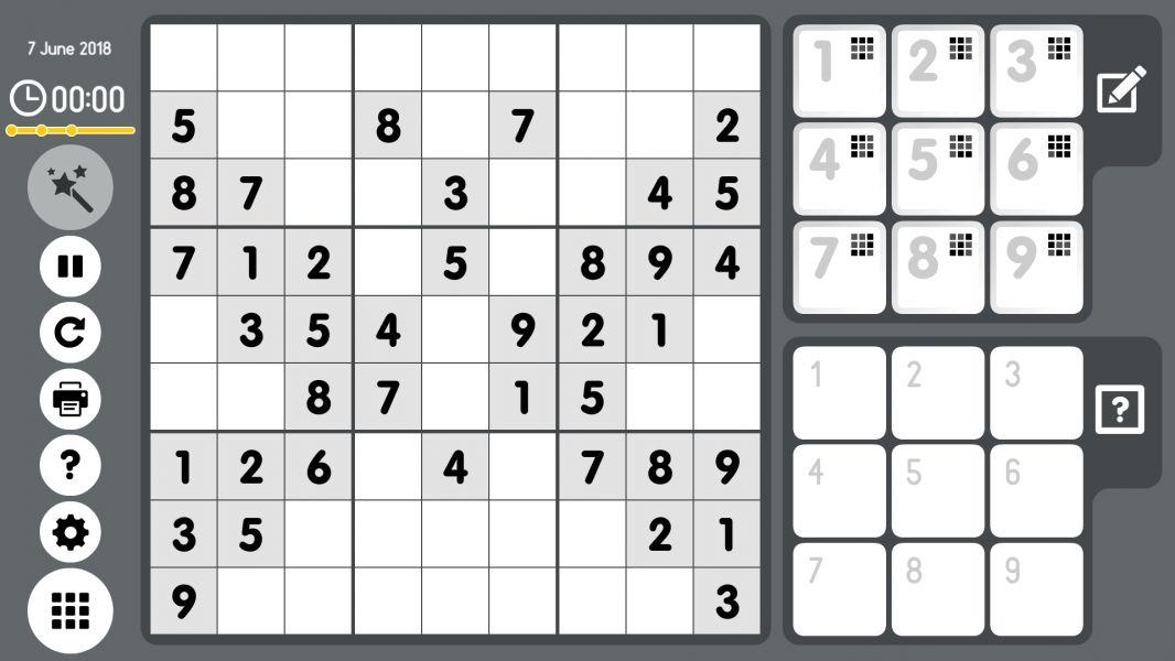 Level 2018-06-07. Online Sudoku