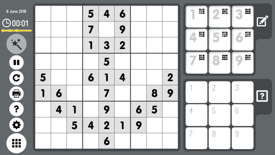 Level 2018-06-08. Online Sudoku
