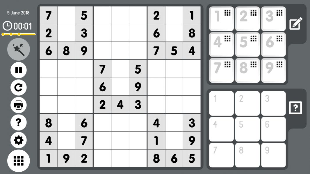 Level 2018-06-09. Online Sudoku