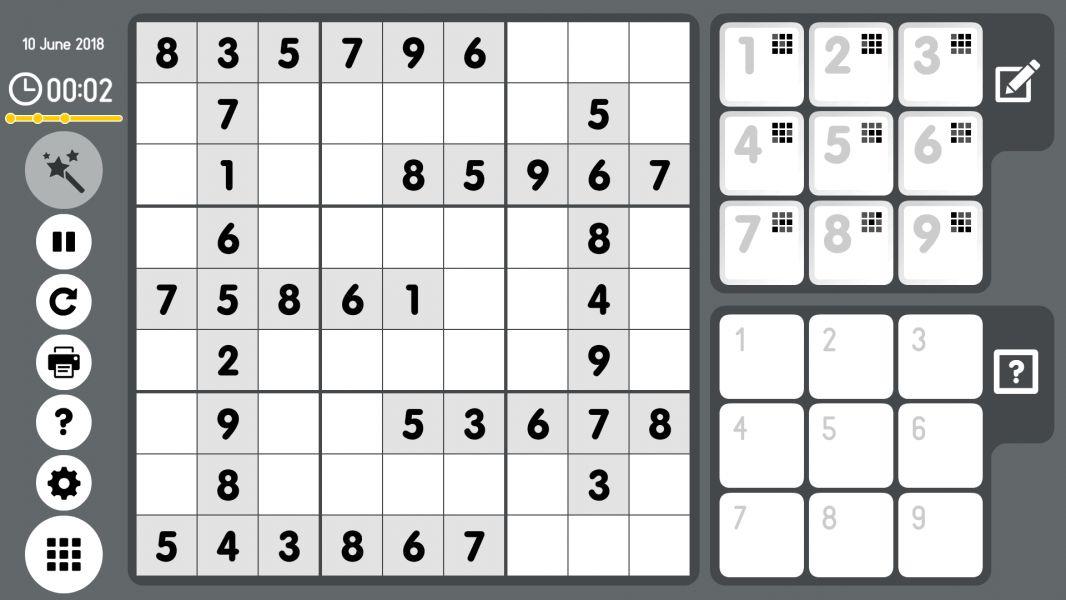 Level 2018-06-10. Online Sudoku