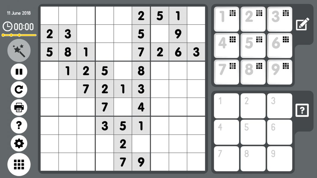 Level 2018-06-11. Online Sudoku