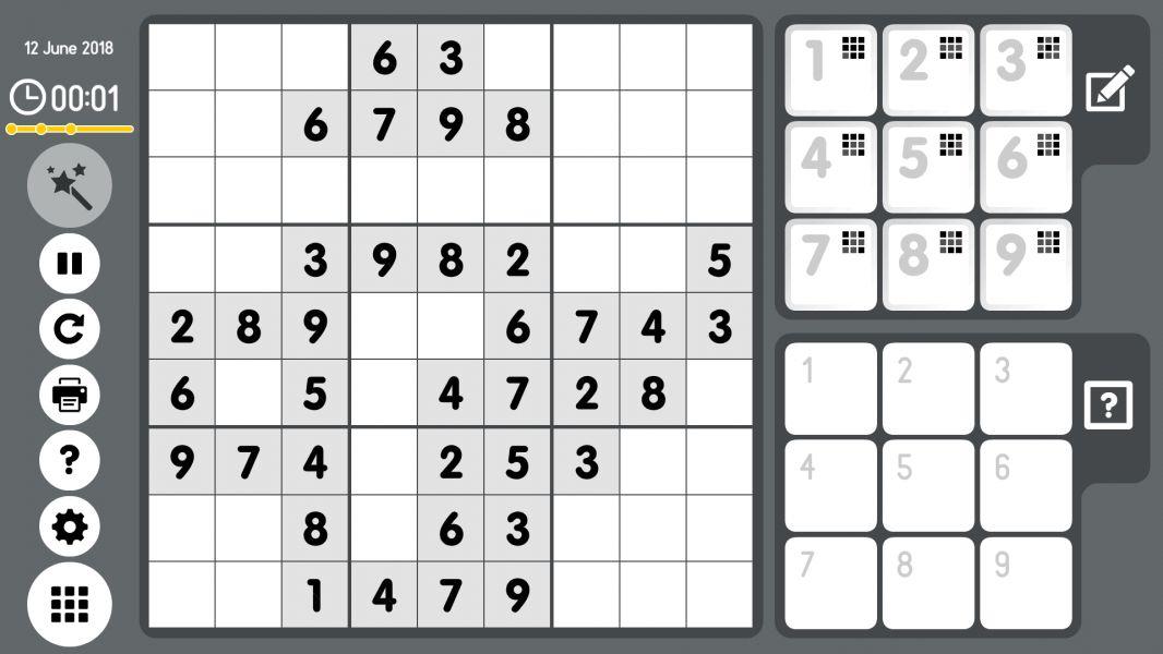 Level 2018-06-12. Online Sudoku