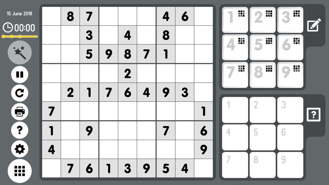 Level 2018-06-15. Online Sudoku