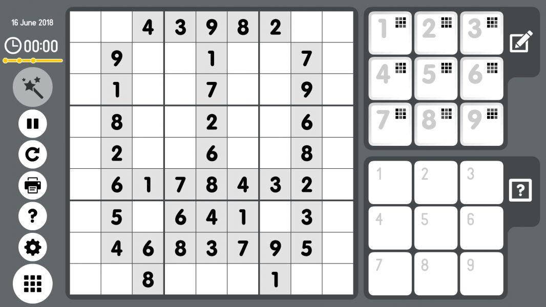 Level 2018-06-16. Online Sudoku