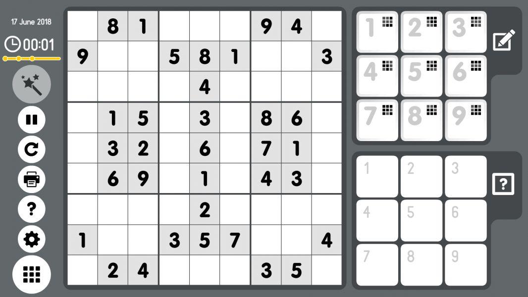 Level 2018-06-17. Online Sudoku