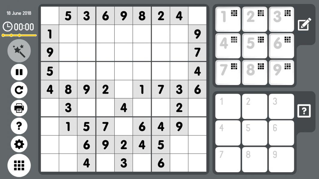 Level 2018-06-18. Online Sudoku