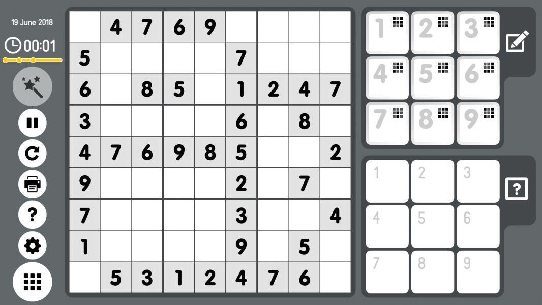 Level 2018-06-19. Online Sudoku