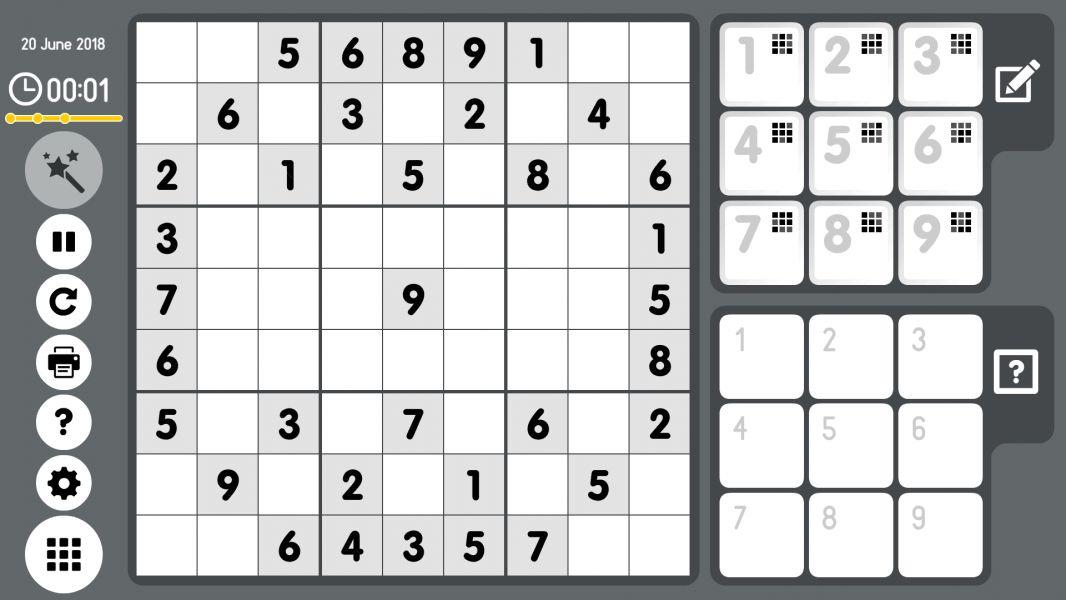 Level 2018-06-20. Online Sudoku