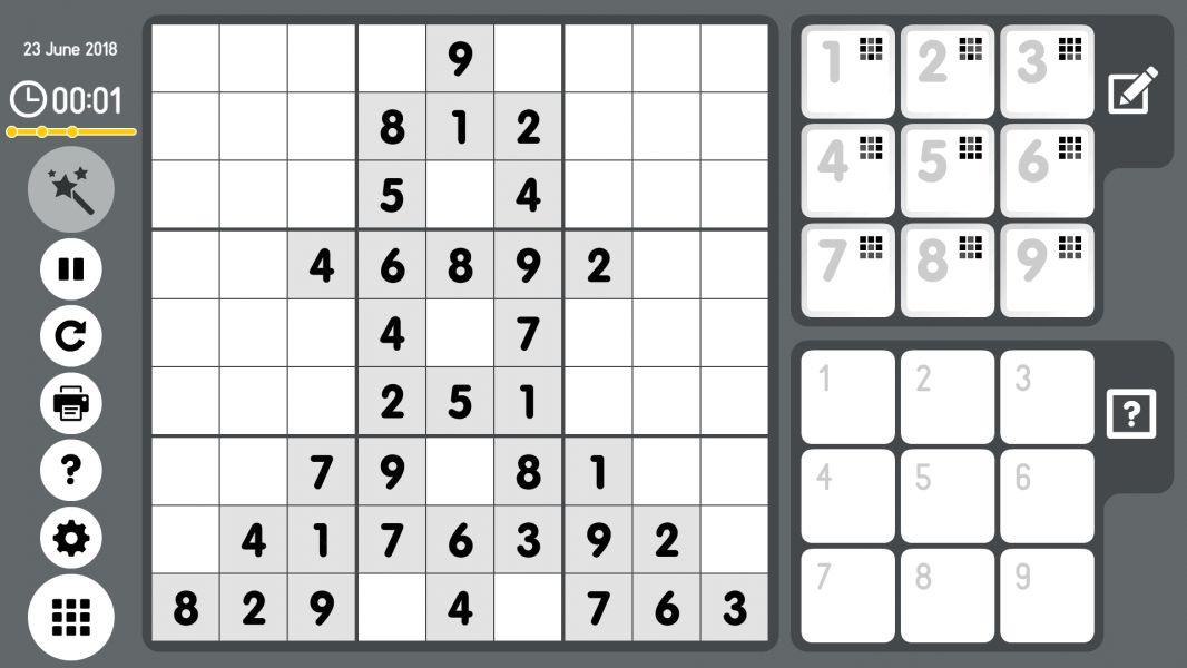 Level 2018-06-23. Online Sudoku
