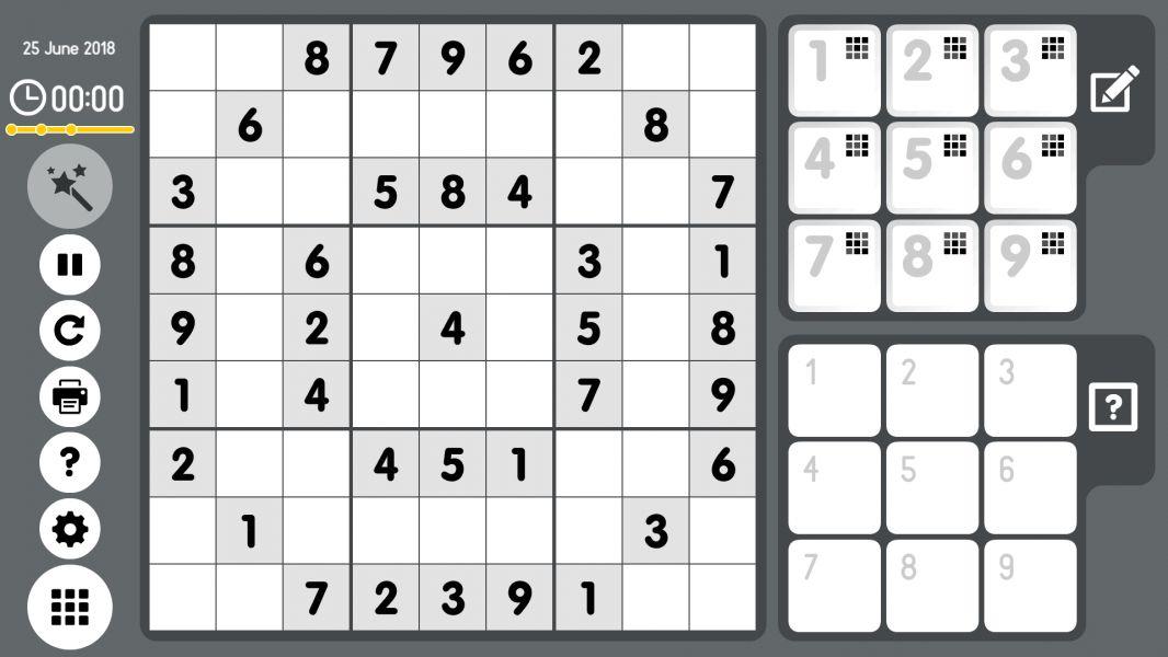 Level 2018-06-25. Online Sudoku