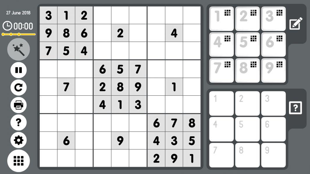 Level 2018-06-27. Online Sudoku