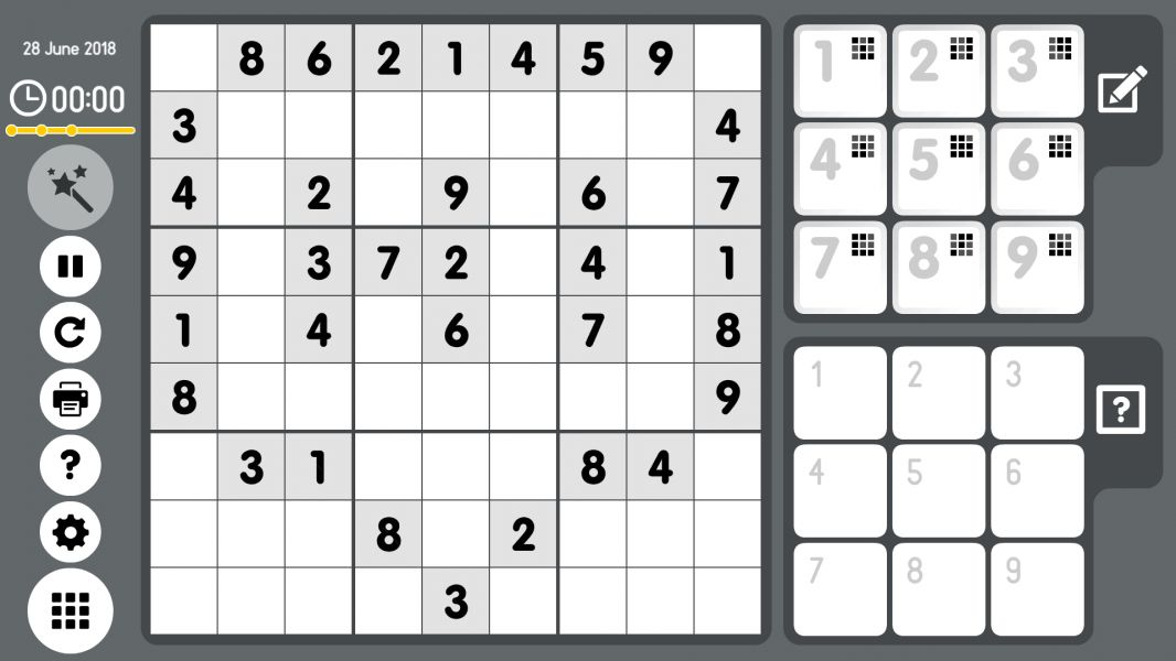 Level 2018-06-28. Online Sudoku