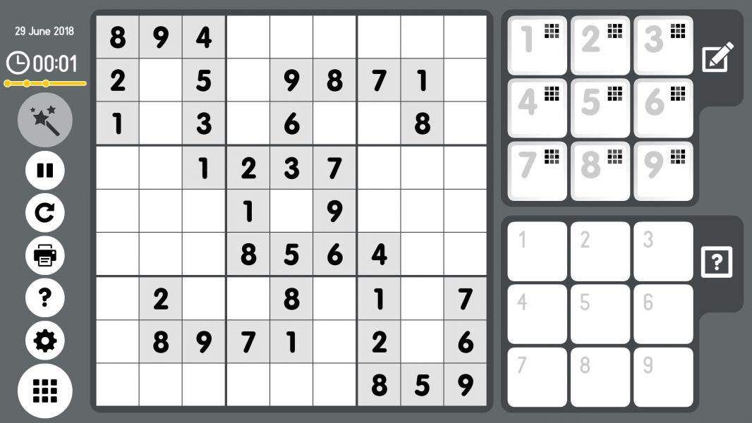 Level 2018-06-29. Online Sudoku
