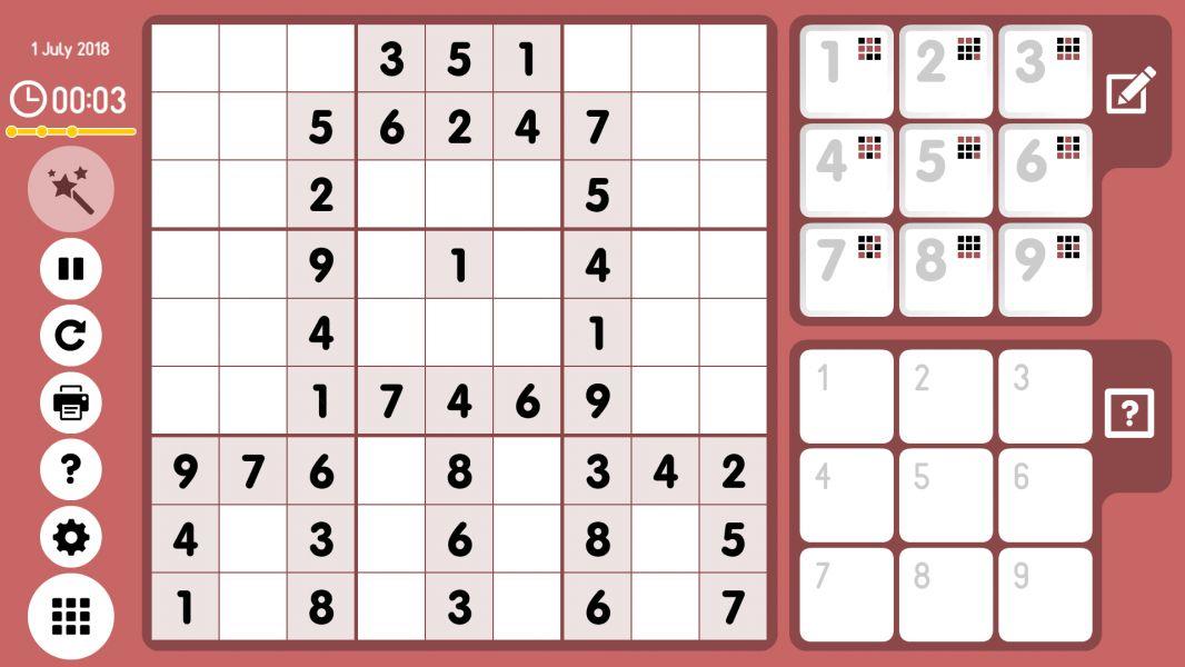 Level 2018-07-01. Online Sudoku