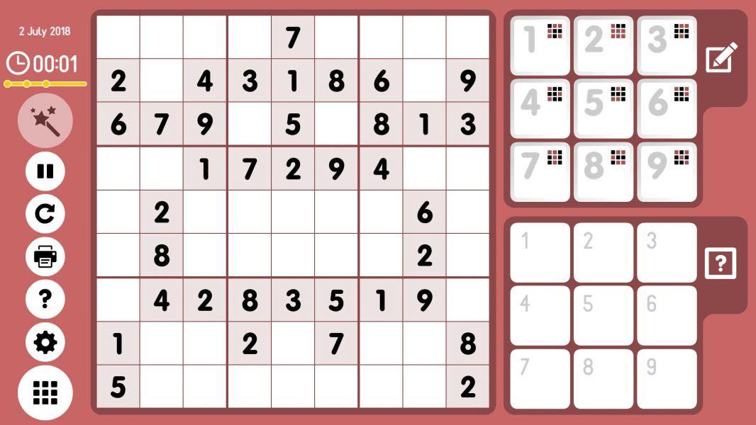 Level 2018-07-02. Online Sudoku