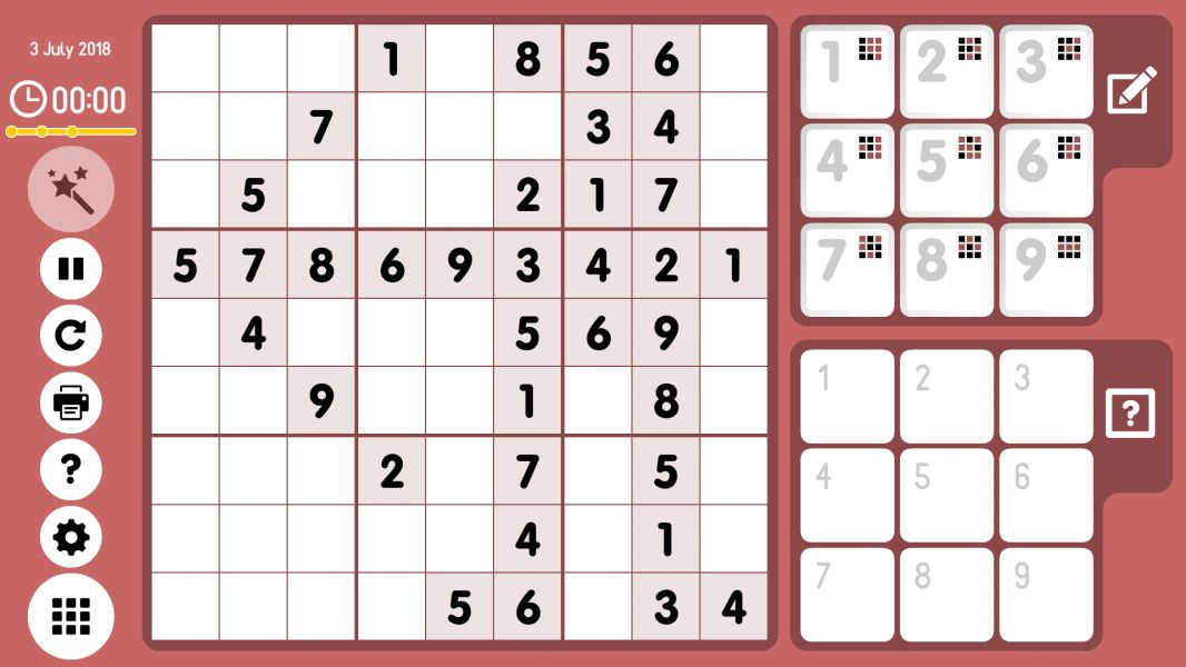 Level 2018-07-03. Online Sudoku