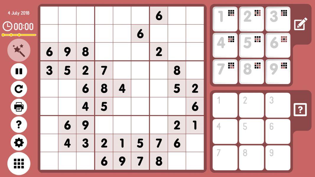 Level 2018-07-04. Online Sudoku