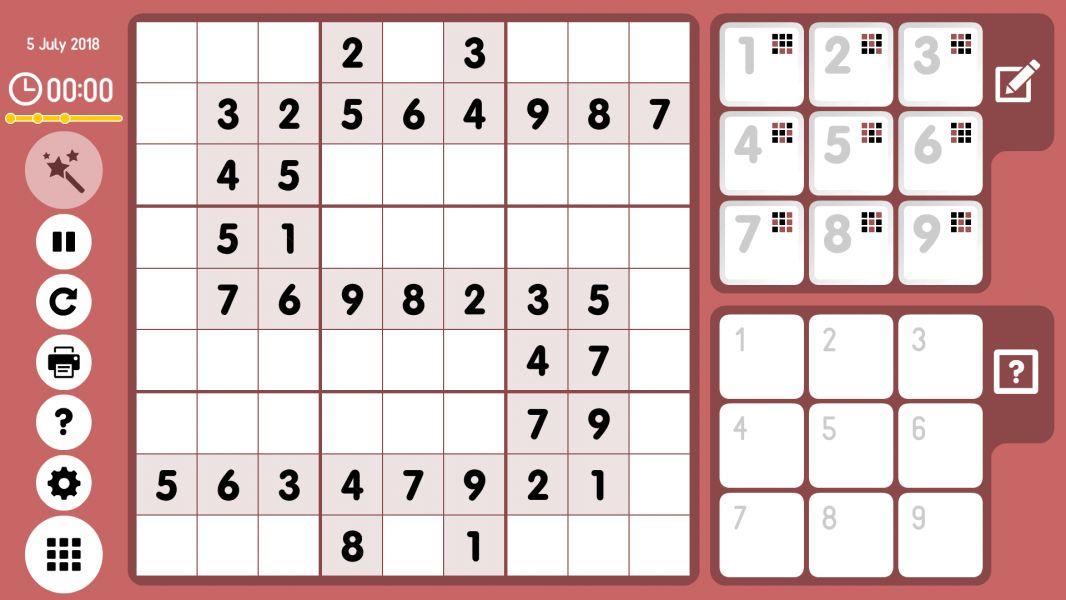 Level 2018-07-05. Online Sudoku