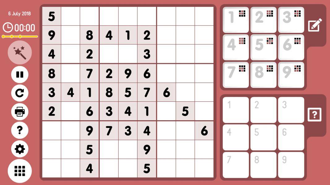Level 2018-07-06. Online Sudoku