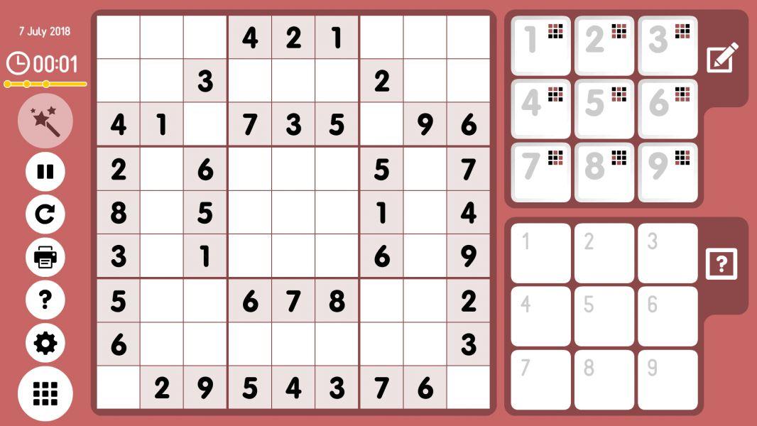 Level 2018-07-07. Online Sudoku
