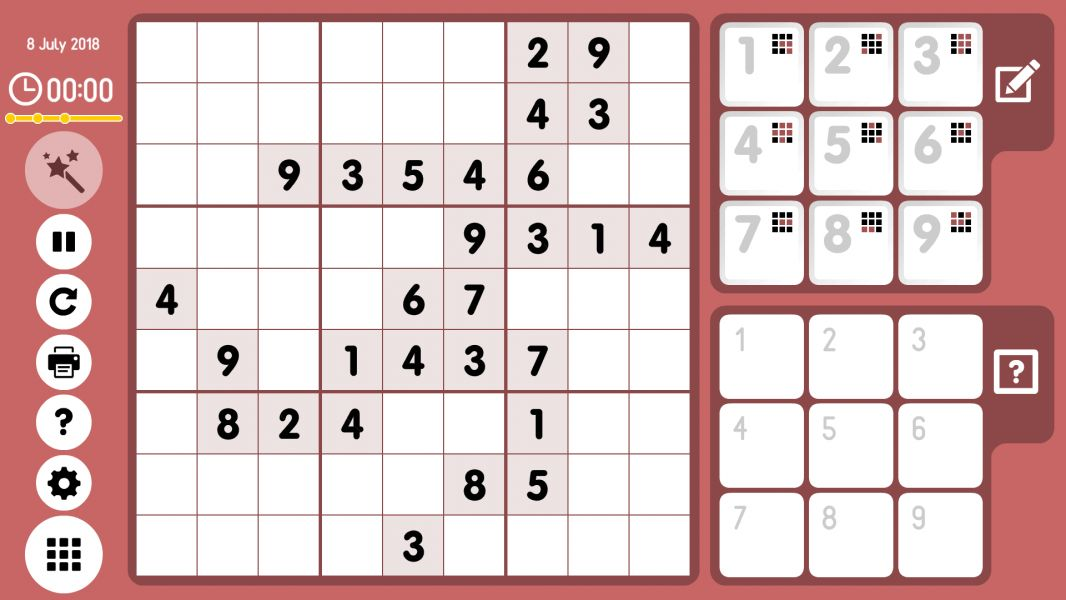 Level 2018-07-08. Online Sudoku