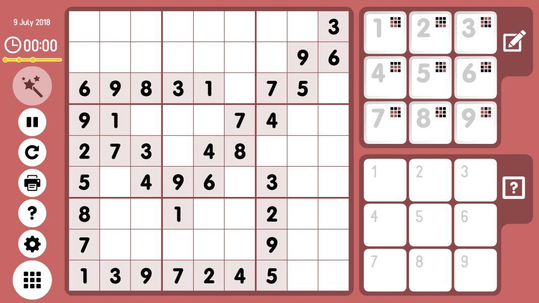 Level 2018-07-09. Online Sudoku